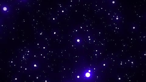 Blue Glowing Spheres Starfield Loop 1 Animation