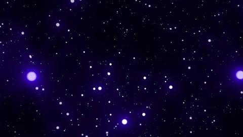 Blue Glowing Spheres Starfield Loop 2 rotate left Animation