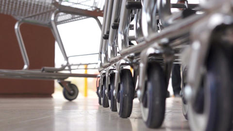 Shopping Cart Shopper Low Angle stock footage