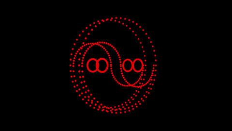 4K Yin Yang Symbol,eastern YinYang Matrix,diagram Of Universe,Tai Ji Diagram stock footage