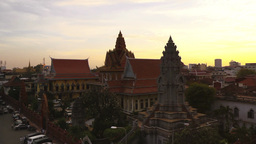View Of The City Of Phnom Penh Cambodia Asia At Sunset Footage