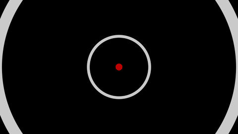 red white circle Animation