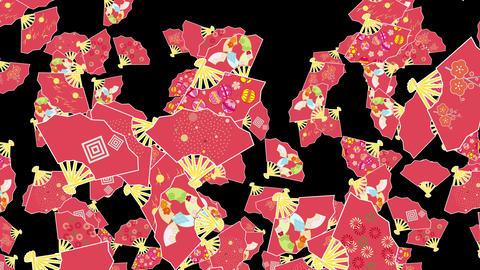 Japanese Folding fan B 1b 4k Animation