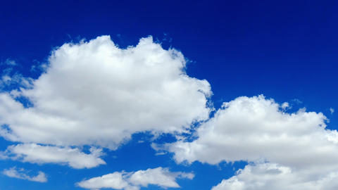 Clouds in the blue sky. TimeLapse Footage