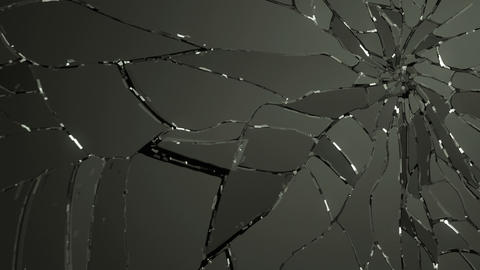 Glass breaking and destruction with slow motion. A Animation