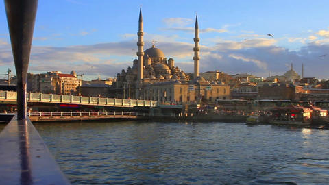 Golden Horn, Eminonu Region from daily tour boat i Footage
