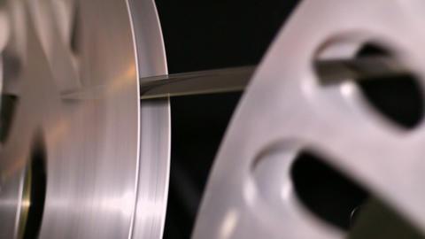 35mm Film Cinema Reels Rewinding Live Action