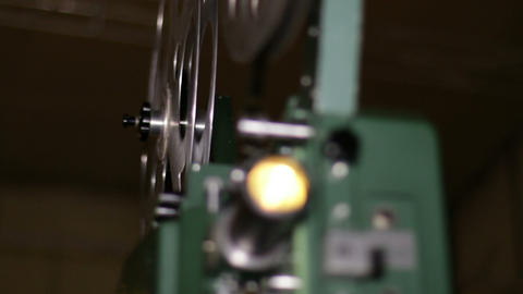 Film Projector Projecting 16mm Movie Rack Focus, Live Action