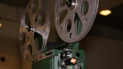 Film Projector Projecting 16mm Movie Live Action