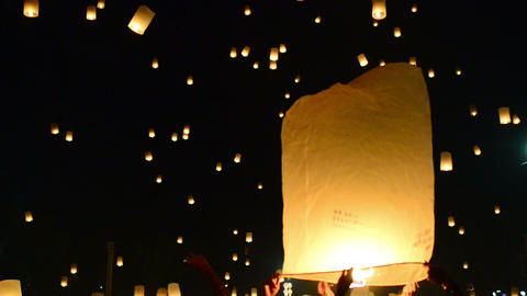 Yii Peng Festival Lantern Release Live Action