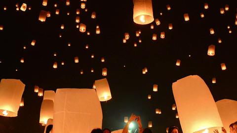 Yii Peng Lanterns Footage