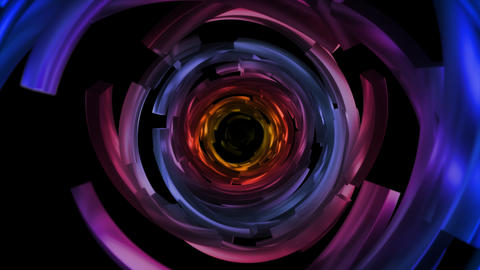 Color Circles Broken Travel Animation