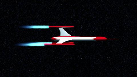 Retro Rocket Motion Background stock footage