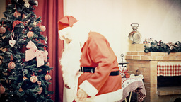 Christmas Eve fake Santa Claus discovered antique Footage