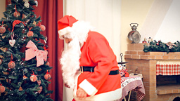 Christmas Eve fake Santa Claus discovered Footage