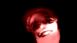 Cursed Doll Moving Red Dramatic stock footage