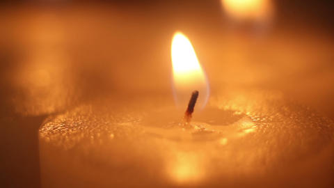 lighting candle by matchstick close-up Footage