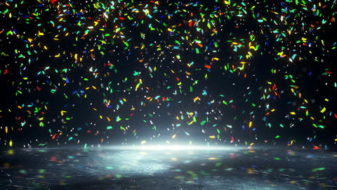 colorful confetti falling loopable Animation