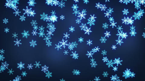 falling snowflakes loop christmas background Animation