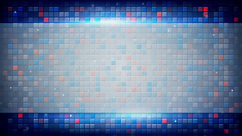 blank plate and squares on background loop Animation