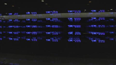 3d world time - taipei taoyuan airport 影片素材