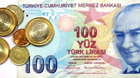 Turkish Money Banknotes Footage
