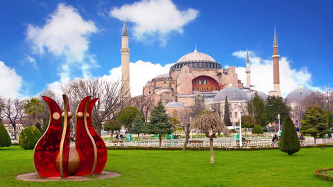 Hagia Sophia Museum As A World Wonder stock footage