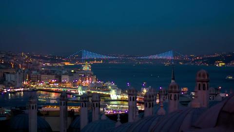 Galata and Bosporus Bridges Footage