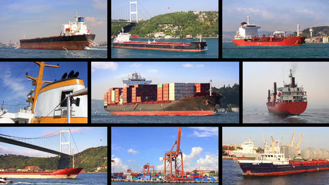 International Freight Shipping By Boat stock footage