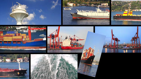International freight shipping by boat Footage
