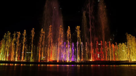 Colorful Fountain stock footage
