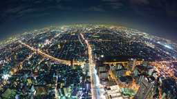 4k timelapse video of Osaka in Japan at night, fis Footage