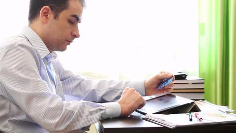 Internet shopper on tablet computer 1 Footage