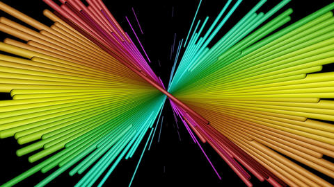 radial rainbow stick Animation