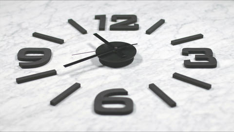 Clock Fast Time Lapse Moving Forward 4k Footage