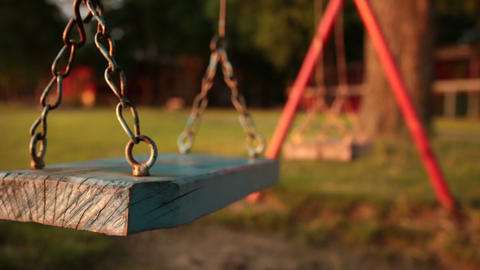 empty swing at the playground Footage