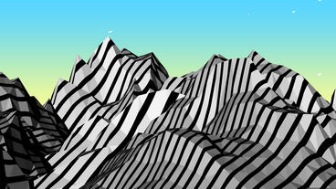 4k Mountain with zebra pattern,Dream hills in Science Fiction world Footage