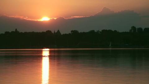 Sunset on the lake Footage
