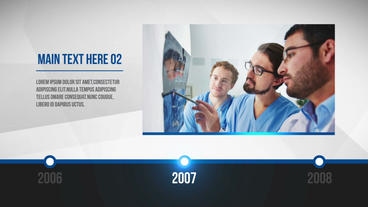 Clean Corporate Timeline Template After Effect