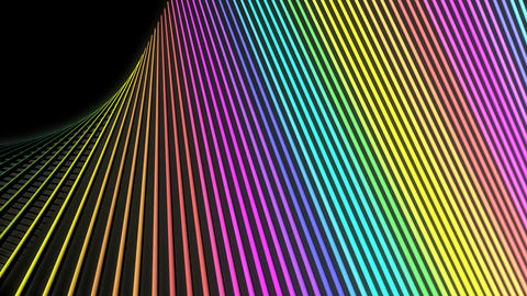 rainbow net lines Animation