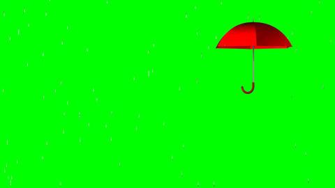 4k, Your text under an umbrella (green screen, alp Animation