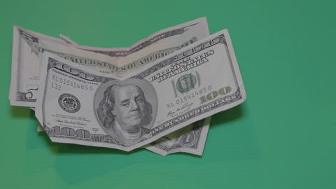 United States American Cash - Pan On Green Screen stock footage