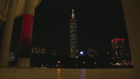 Sexy - Moving shot of Taipei 101 at night from Sun Footage
