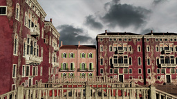 Venice Buildings Clouds Timelapse 06 Stock Video Footage