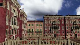 Venice Buildings Clouds Timelapse 03 Stock Video Footage