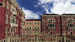 Venice Buildings Clouds Timelapse 03 Stock Video Footage