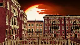 Venice Buildings Clouds Timelapse 01 Stock Video Footage
