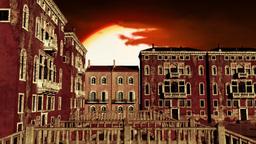 Venice Buildings Clouds Timelapse 01 Animation