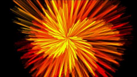 Rotation orange rays... Stock Video Footage