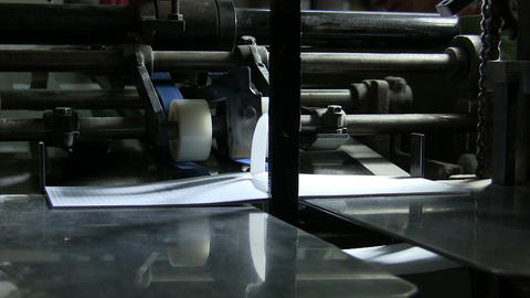 Printing factory Footage